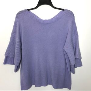For the Republic Lavender Layered Bell Sleeve L